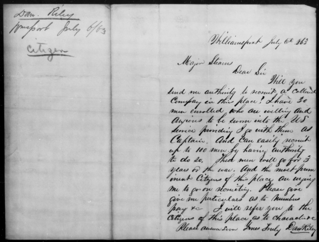 Riley, Dan - State: [Blank] - Year: 1863