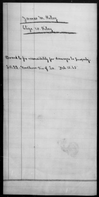 Riley, James M - State: Louisiana - Year: 1865