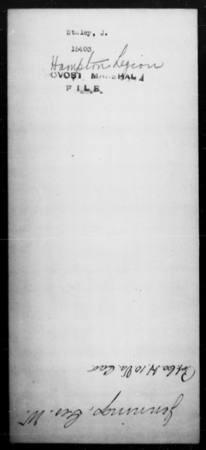 Staley, J - State: [Blank] - Year: [Blank]