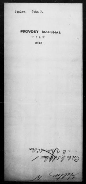 Staley, John P - State: [Blank] - Year: [Blank]