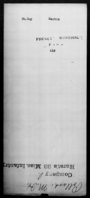 Staley, Martin - State: [Blank] - Year: [Blank]