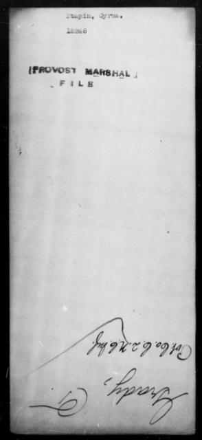 Stapin, Cyrus - State: [Blank] - Year: [Blank]