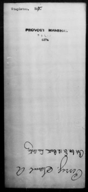 Stapleton, Edw - State: [Blank] - Year: [Blank]