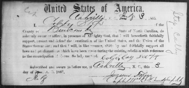 Step, Colby - State: North Carolina - Year: 1865
