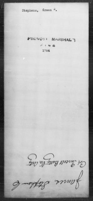 Stephens, Green B - State: [Blank] - Year: [Blank]