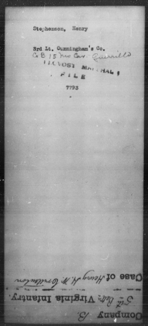 Stephenson, Henry - State: [Blank] - Year: [Blank]