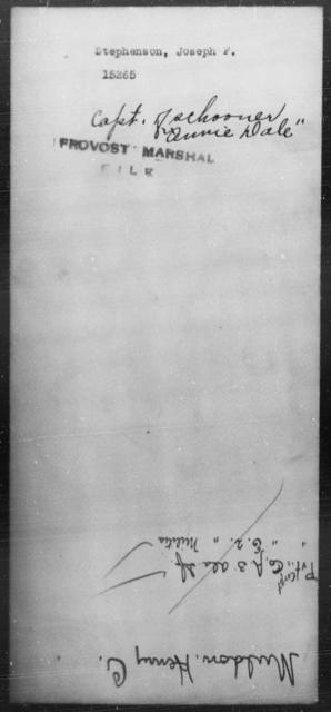 Stephenson, Joseph F - State: [Blank] - Year: [Blank]