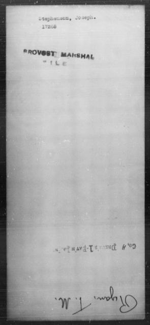 Stephenson, Joseph - State: [Blank] - Year: [Blank]