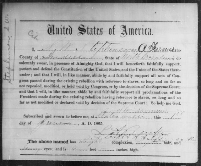 Stephenson, S W - State: North Carolina - Year: 1865
