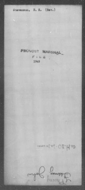 Stevenson, E S - State: [Blank] - Year: [Blank]