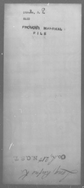 Straus, B P - State: [Blank] - Year: [Blank]