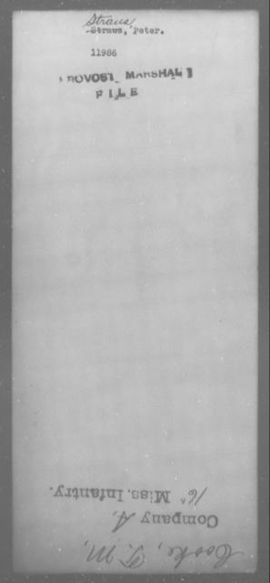 Straus, Peter - State: [Blank] - Year: [Blank]