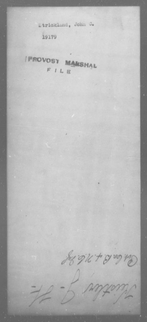 Strickland, John C - State: [Blank] - Year: [Blank]