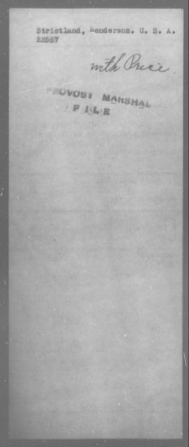 Strictland, Henderson - State: [Blank] - Year: [Blank]