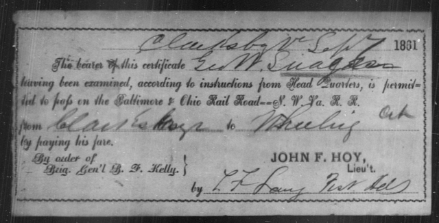 Suagdon, Geo W - State: Ohio - Year: 1861