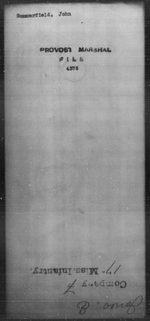 Summerfield, John - State: [Blank] - Year: [Blank]