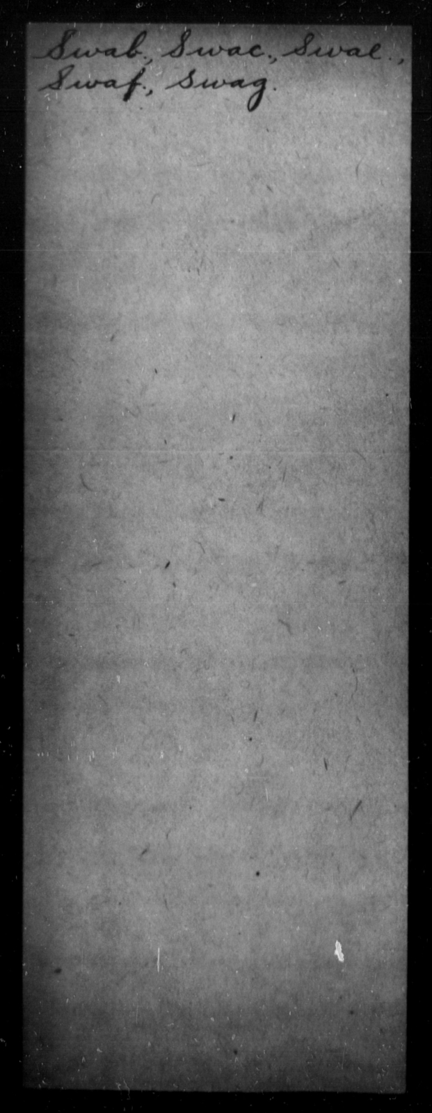 Swab, [Blank] - State: [Blank] - Year: [Blank]
