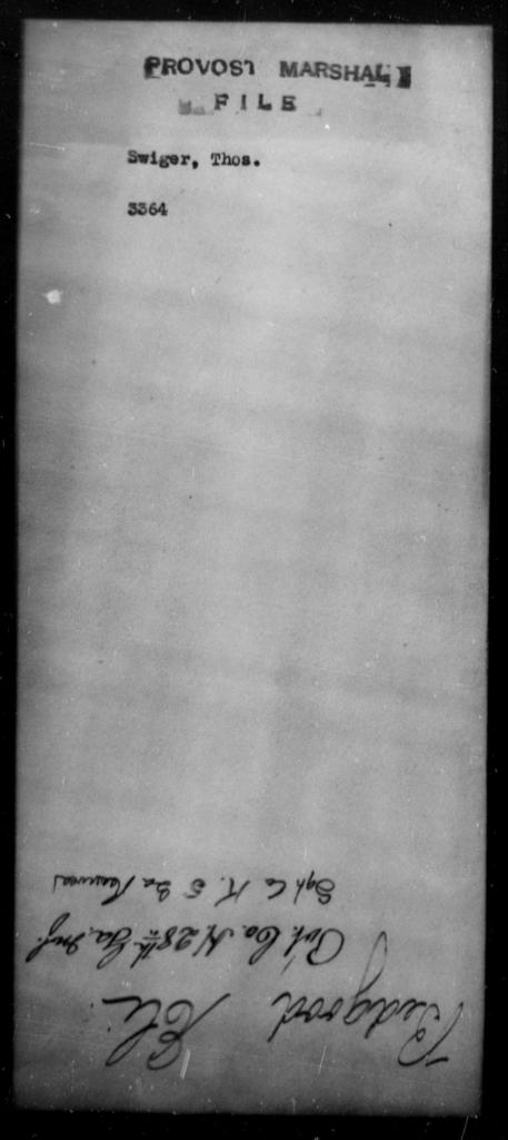 Swiger, Thos - State: [Blank] - Year: [Blank]