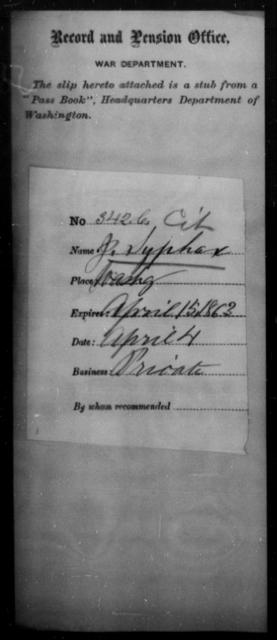 Syphax, J - State: Washington - Year: 1863
