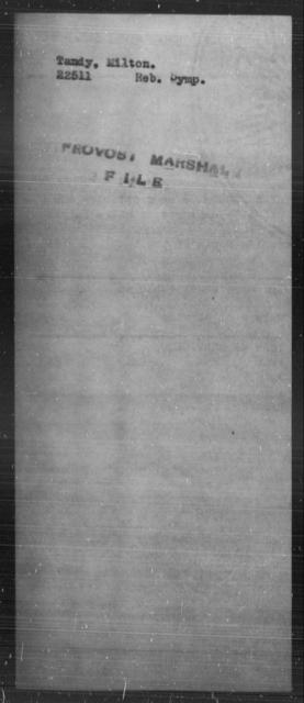 Tandy, Milton - State: [Blank] - Year: [Blank]