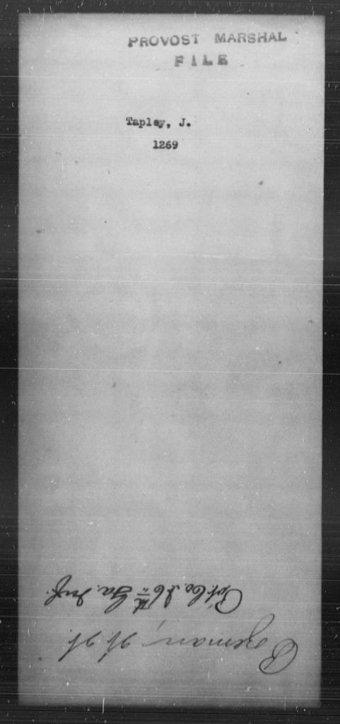 Tapley, J - State: [Blank] - Year: [Blank]