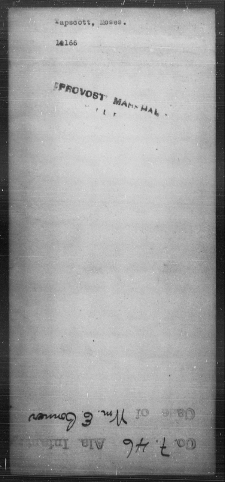 Tapscott, Moses - State: [Blank] - Year: [Blank]