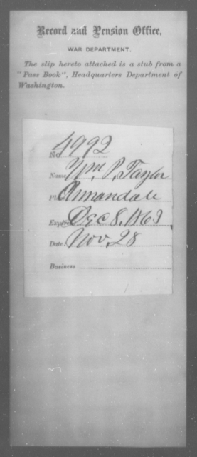 Taylor, Wm P - State: [Blank] - Year: 1863