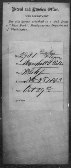 Tebin, Marshall P - State: Washington - Year: 1863