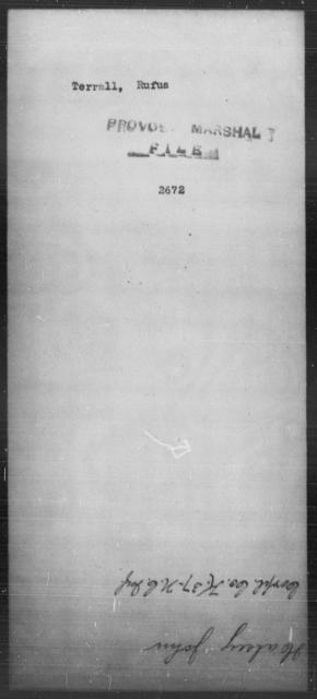 Terrall, Rufus - State: [Blank] - Year: [Blank]