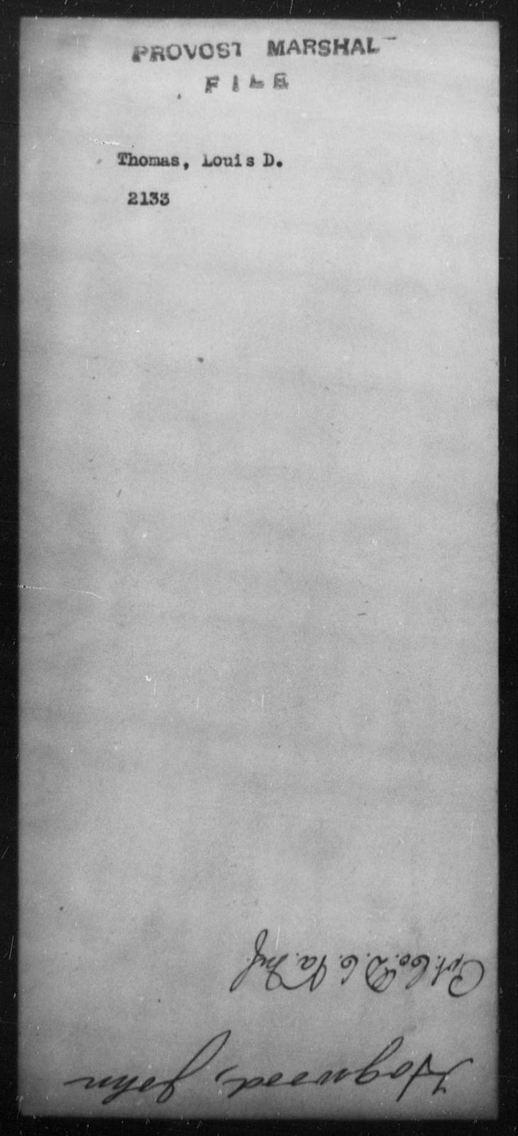 Thomas, Louis D - State: [Blank] - Year: [Blank]
