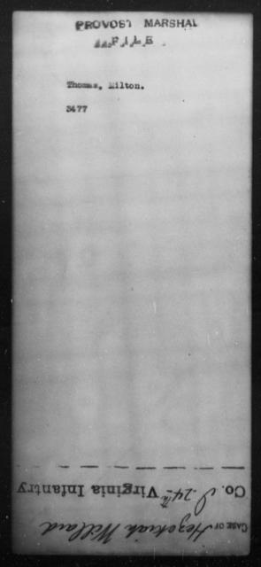 Thomas, Milton - State: [Blank] - Year: [Blank]