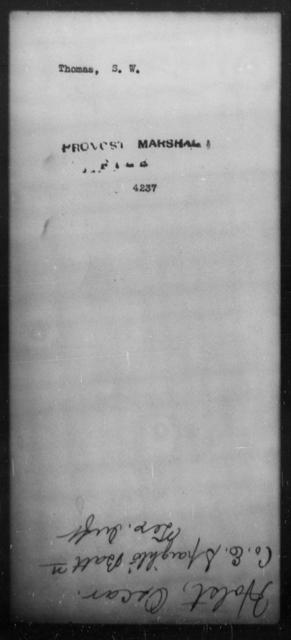 Thomas, S W - State: [Blank] - Year: [Blank]