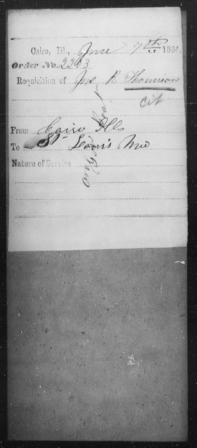 Thomison, Jno R - State: Illinois - Year: 1864