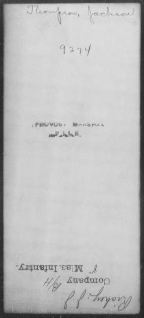 Thompson, Jackson - State: [Blank] - Year: [Blank]