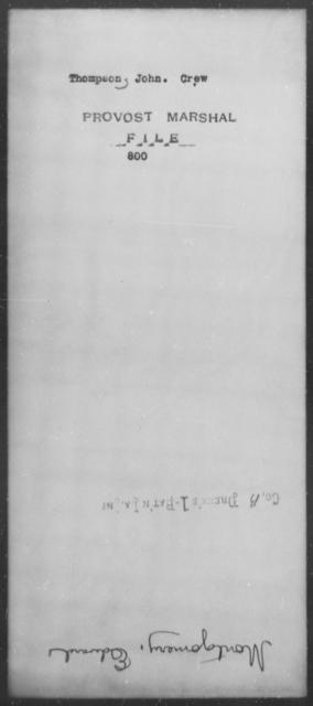 Thompson, John Crew - State: [Blank] - Year: [Blank]