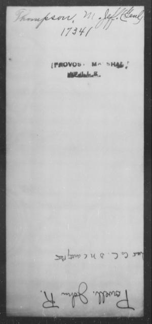 Thompson, M Jeff - State: [Blank] - Year: [Blank]
