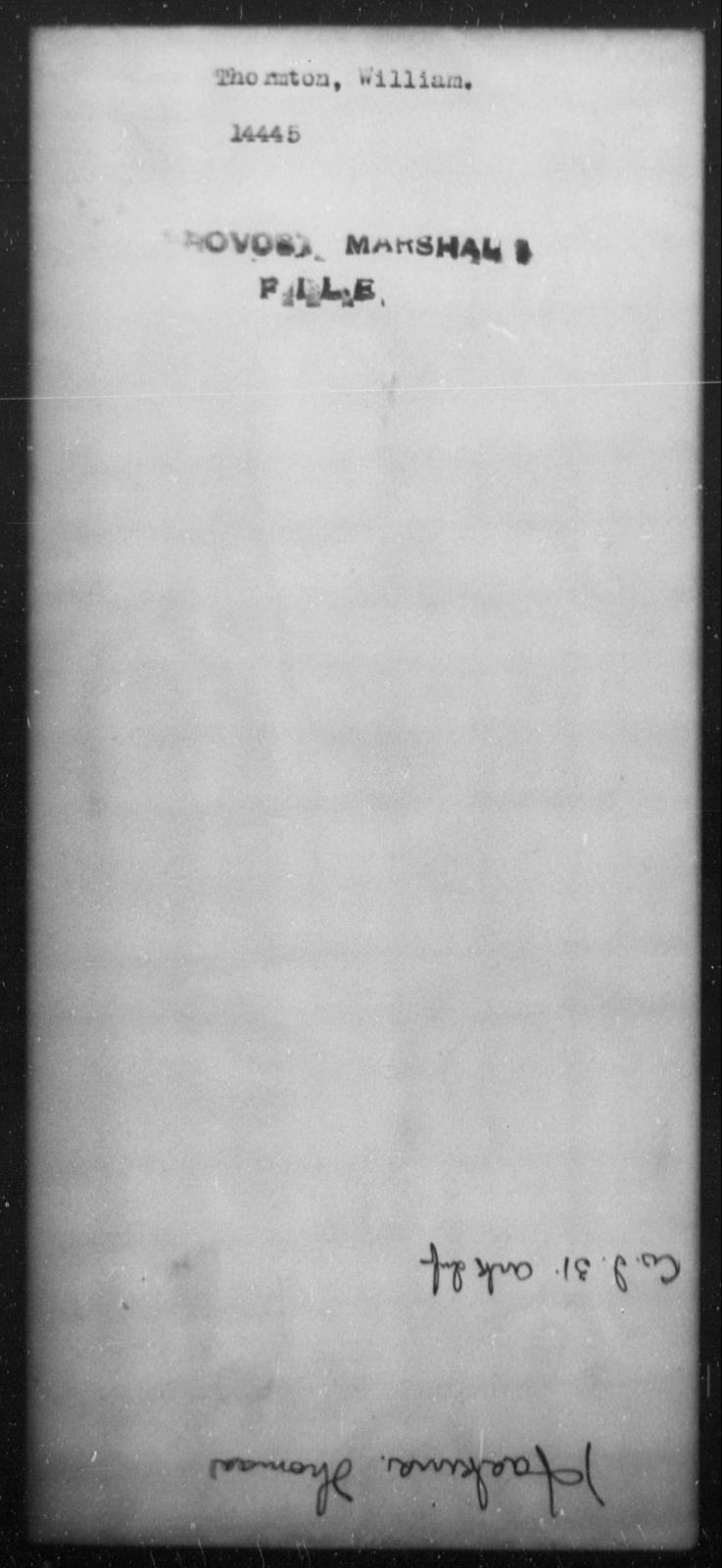 Thormton, William - State: [Blank] - Year: [Blank]