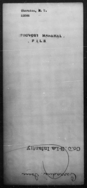 Thornton, W T - State: [Blank] - Year: [Blank]
