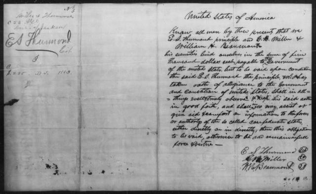 Thurmond, E S - State: [Blank] - Year: 1863