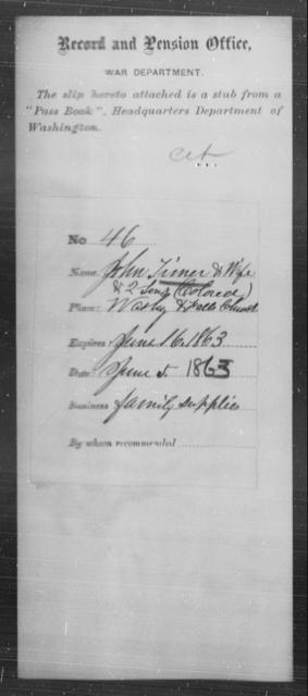 Timer, John - State: Washington - Year: 1863