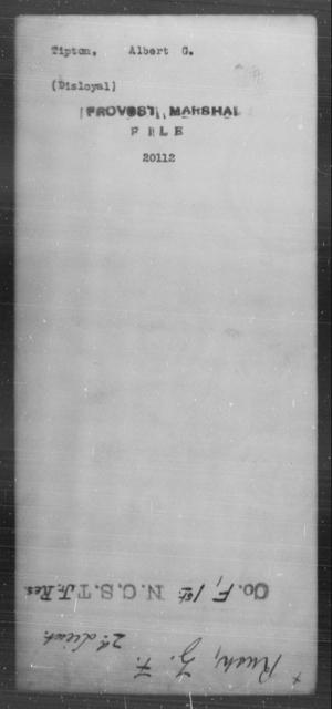 Tipton, Albert G - State: [Blank] - Year: [Blank]