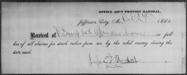 Todd, Jesse - State: Missouri - Year: 1864