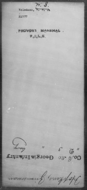 Toledane, W S - State: [Blank] - Year: [Blank]
