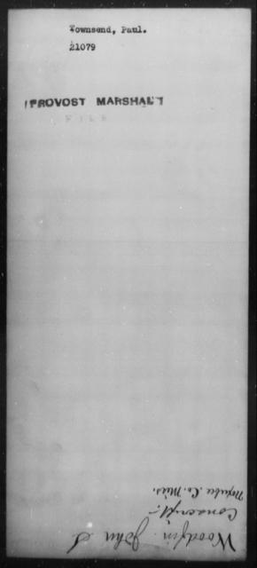 Townsend, Paul - State: [Blank] - Year: [Blank]