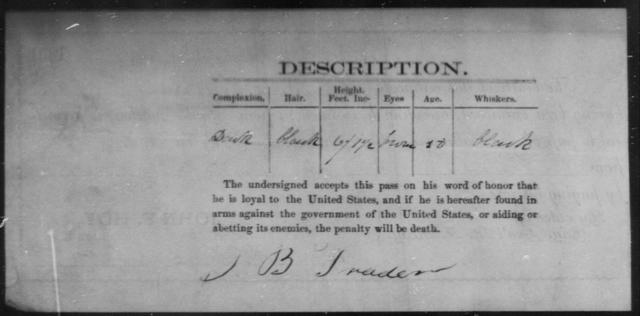 Trader, Sam B - State: Ohio - Year: 1861