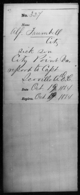 Trumbell, Alf - State: Virginia - Year: 1864
