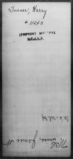 Turner, Harry - State: [Blank] - Year: [Blank]