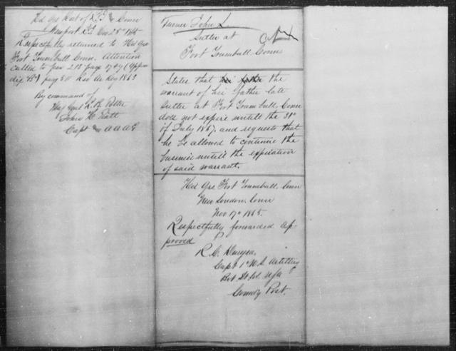 Turner, John L - State: Connecticut - Year: 1865