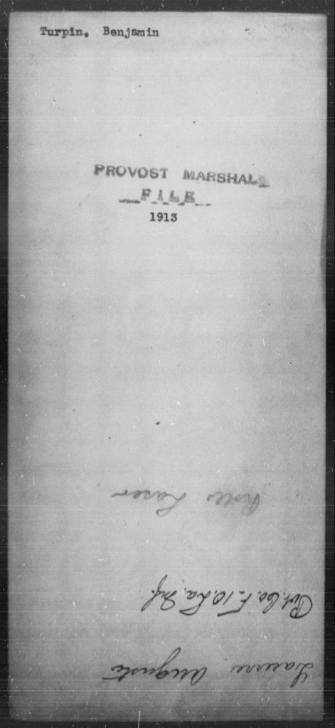 Turpin, Benjamin - State: [Blank] - Year: [Blank]