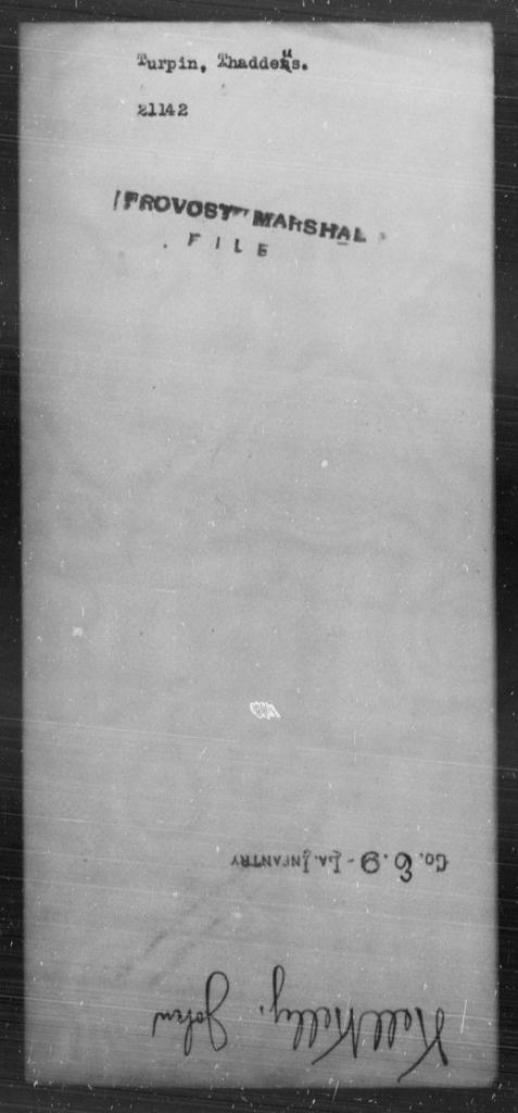 Turpin, Thaddeus - State: [Blank] - Year: [Blank]
